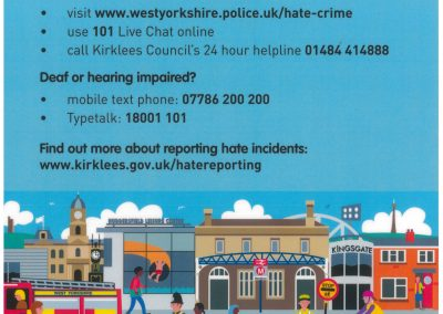 Hate Crime Reporting Poster.