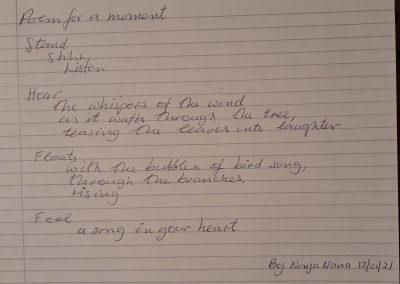 Poem for a Moment by Ninja Nana