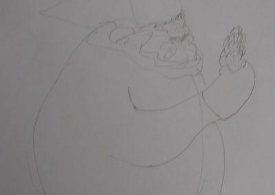 Sketch of girl