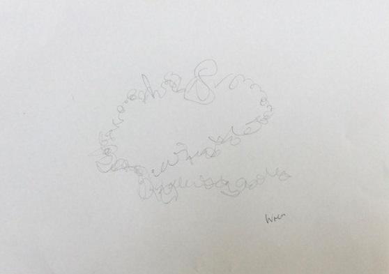 Drawing of wren's birdsong
