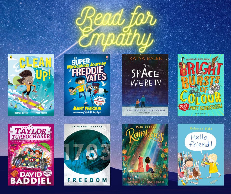 Image of books from empathy collection