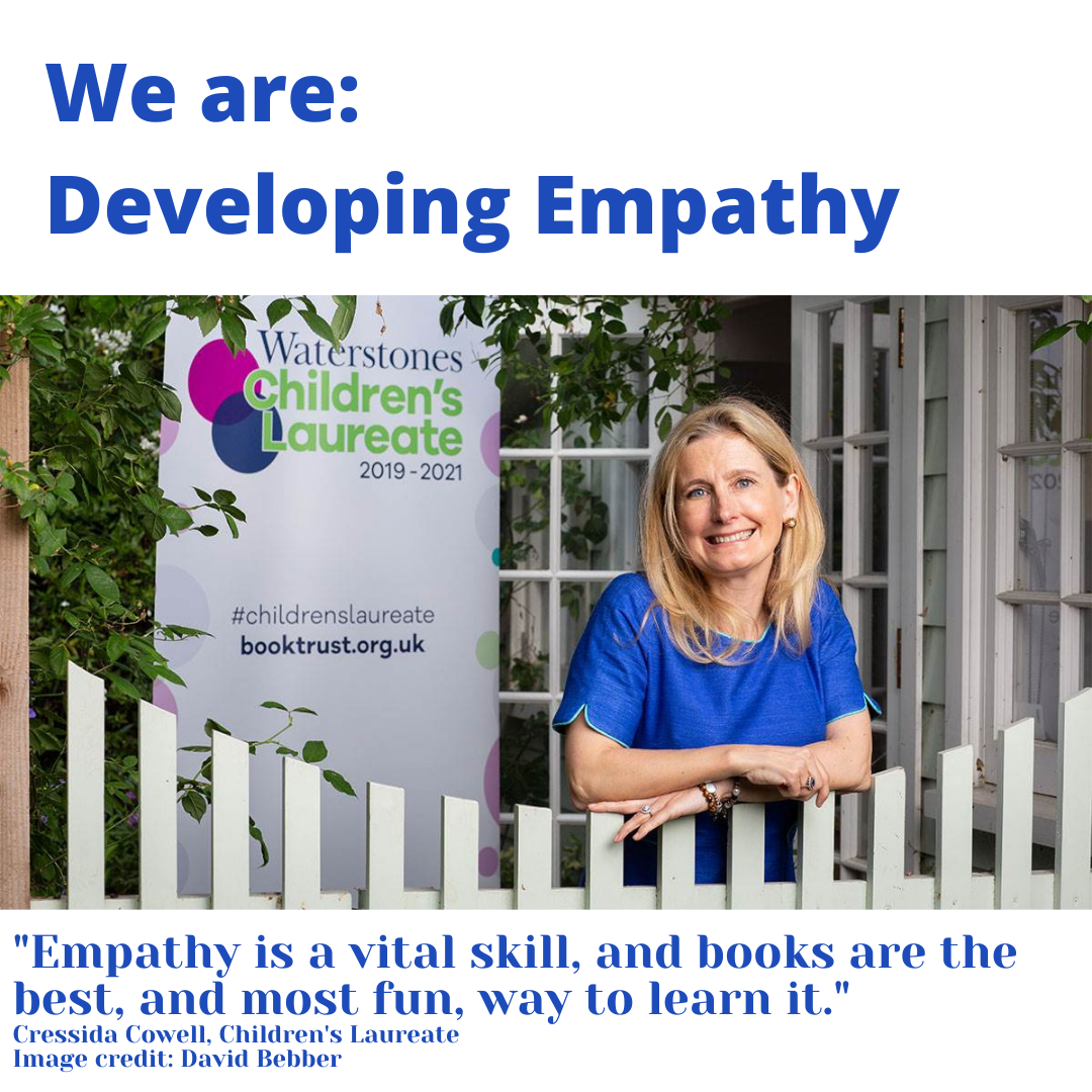 Image of Cressida Cowell and empathy quote